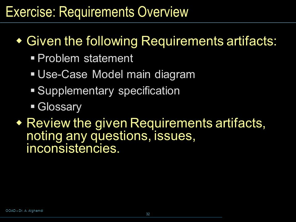 Exercise: Requirements Overview