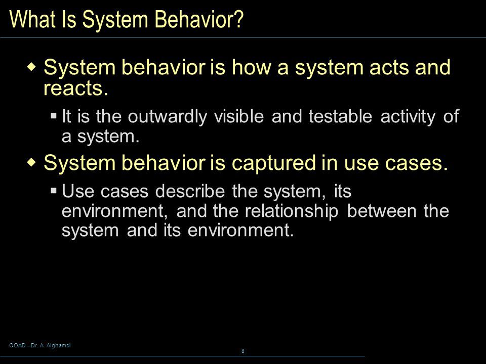 What Is System Behavior