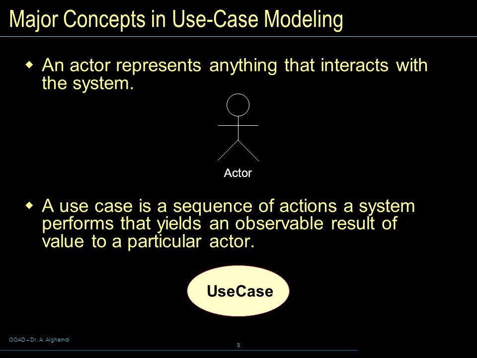 Major Concepts in Use-Case Modeling