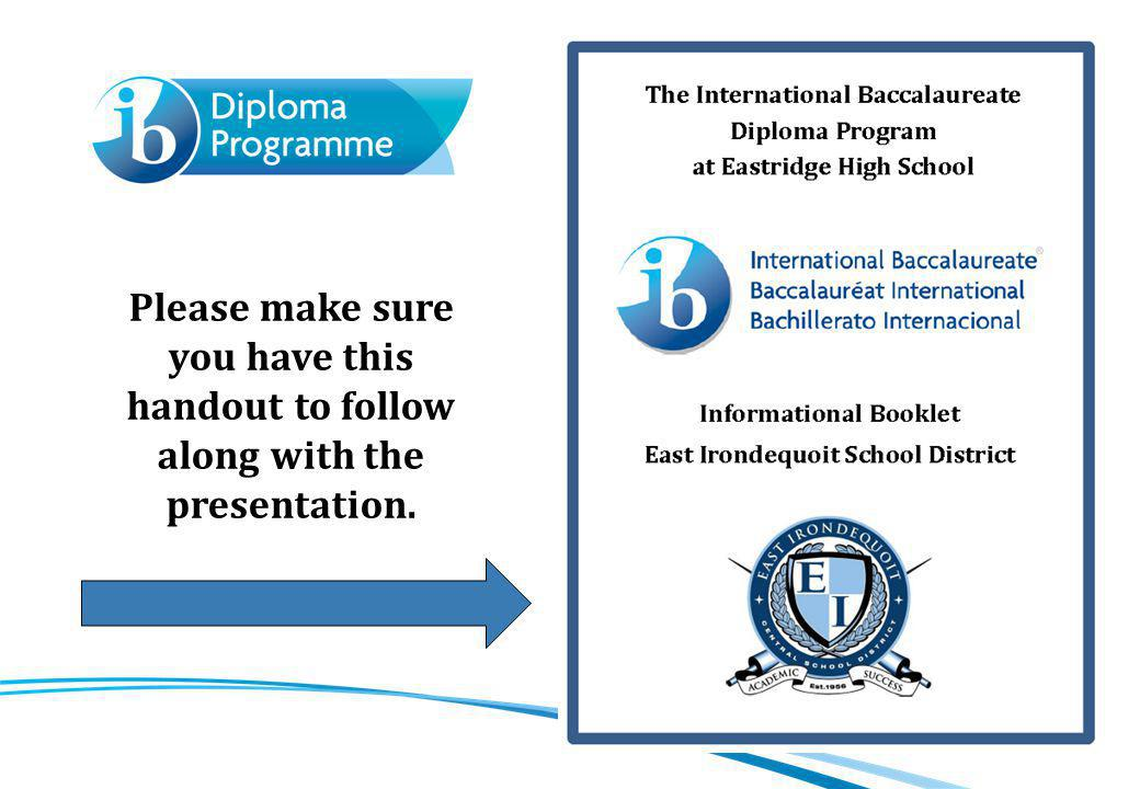 Meeting agenda Welcome & introduction What is the IB Program