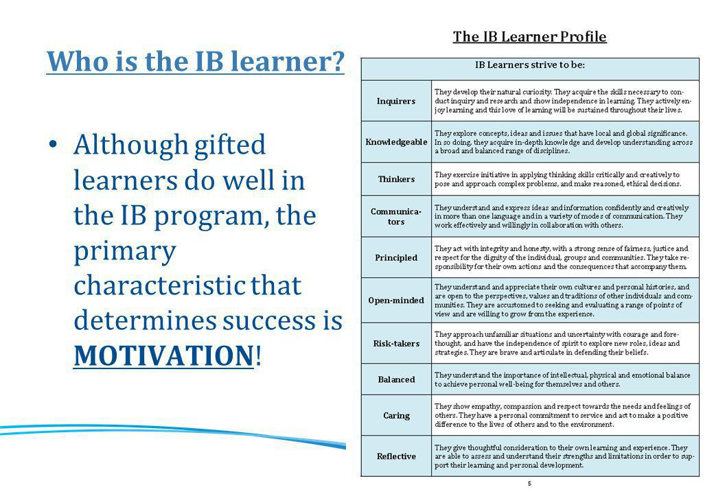 The IB curriculum structure