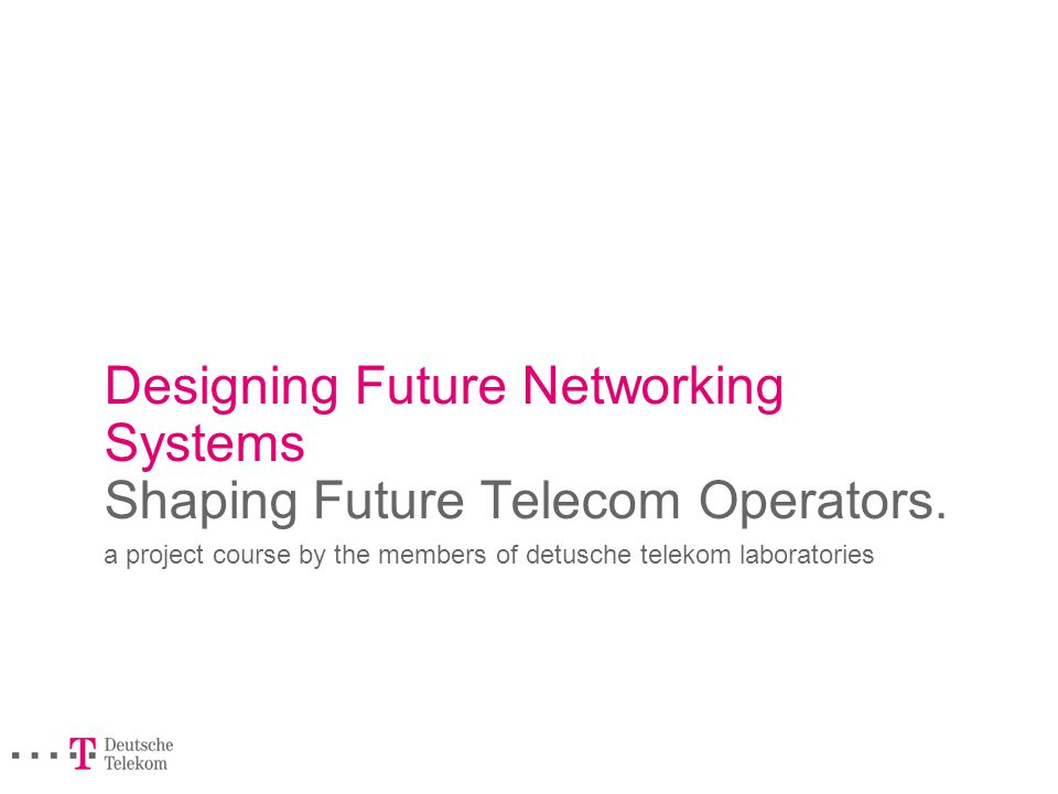 Designing Future Networking Systems.