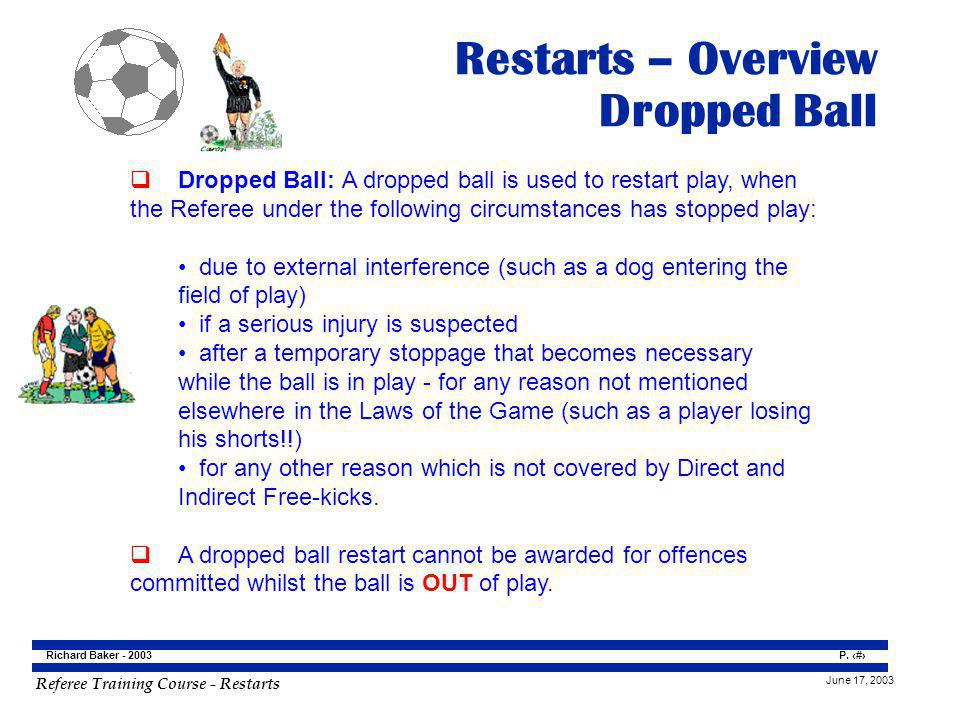 Restarts – Overview Dropped Ball