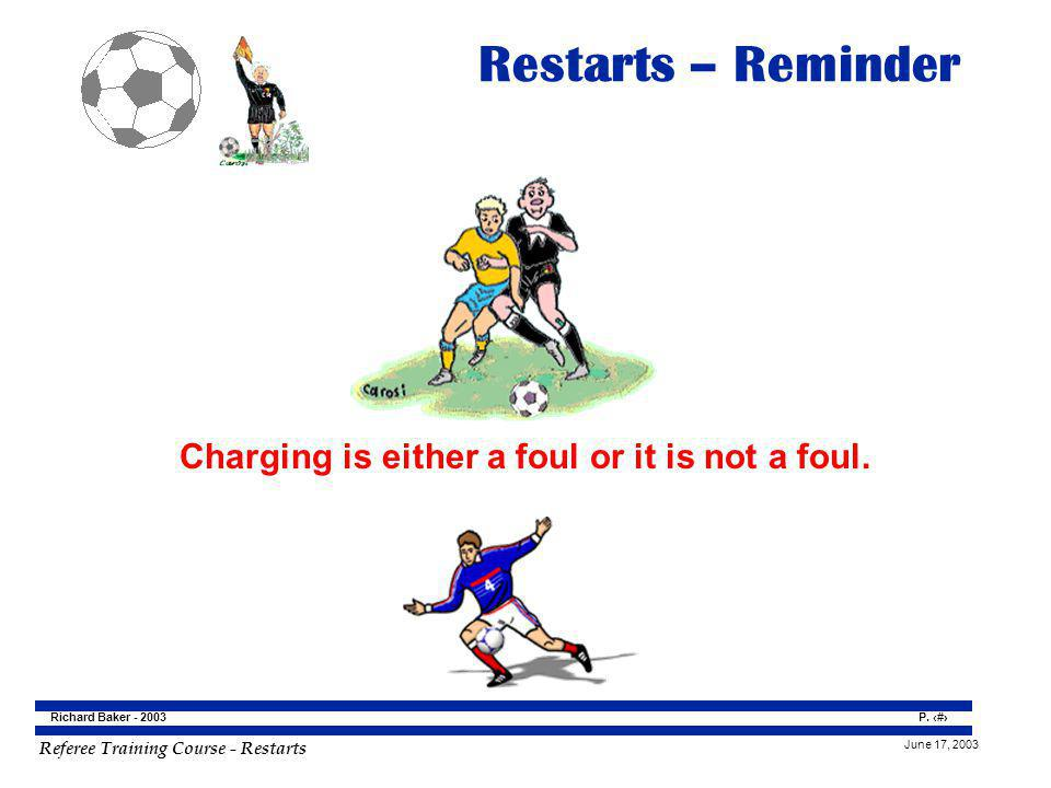 Charging is either a foul or it is not a foul.