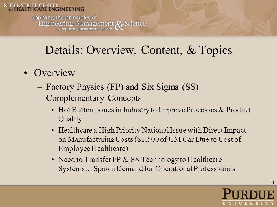 Details: Overview, Content, & Topics