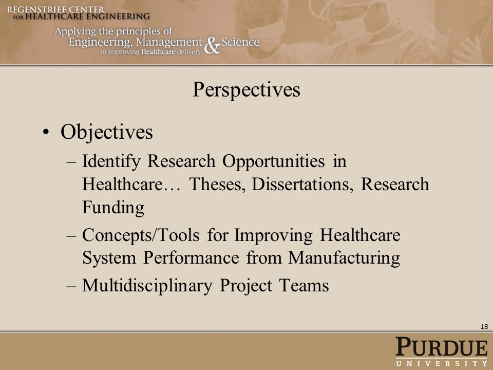 Perspectives Objectives