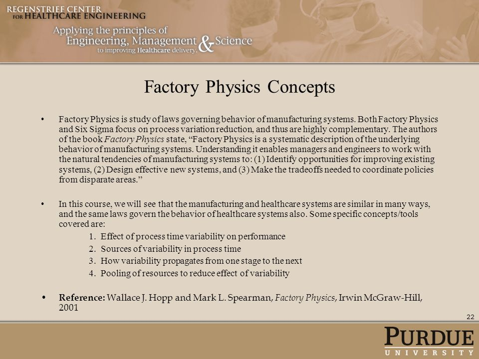 Factory Physics Concepts