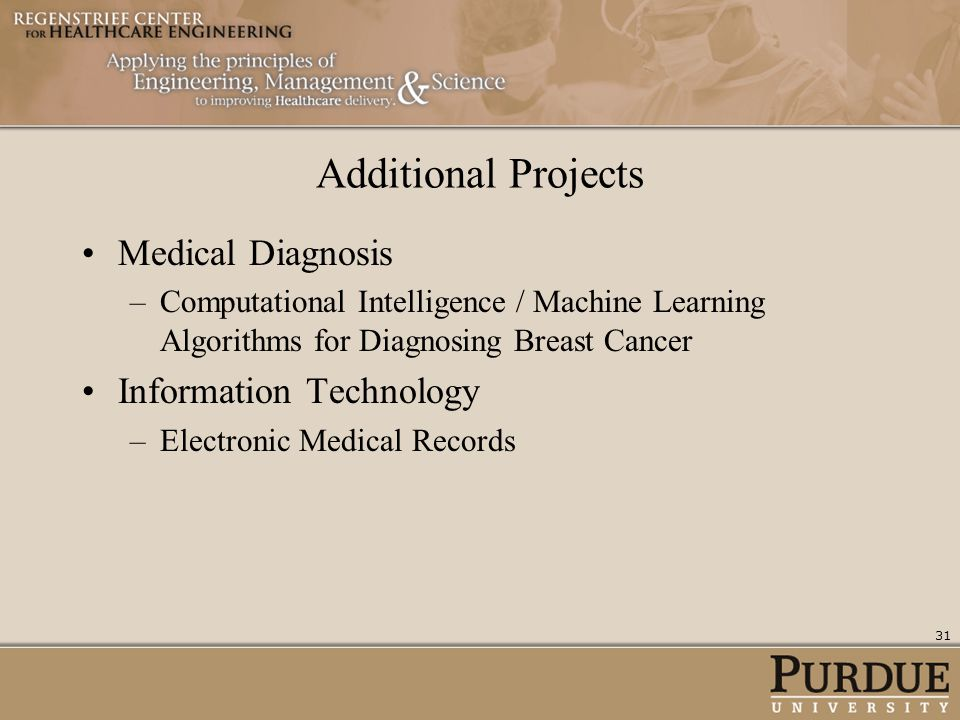 Additional Projects Medical Diagnosis Information Technology