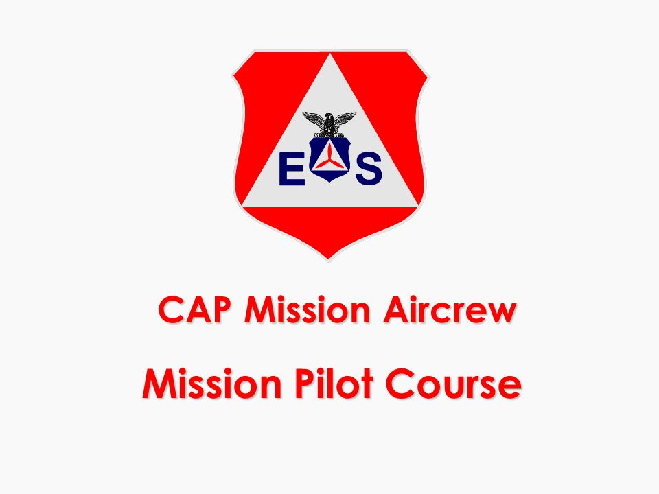 CAP Mission Aircrew Mission Pilot Course