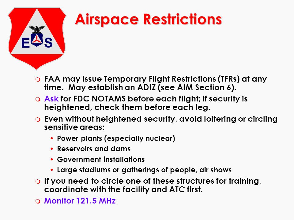 Airspace Restrictions