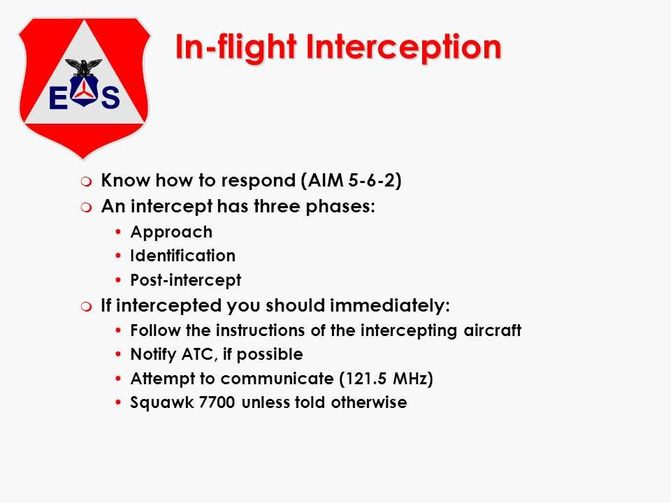 In-flight Interception