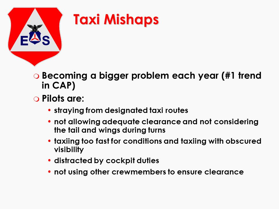 Taxi Mishaps Becoming a bigger problem each year (#1 trend in CAP)