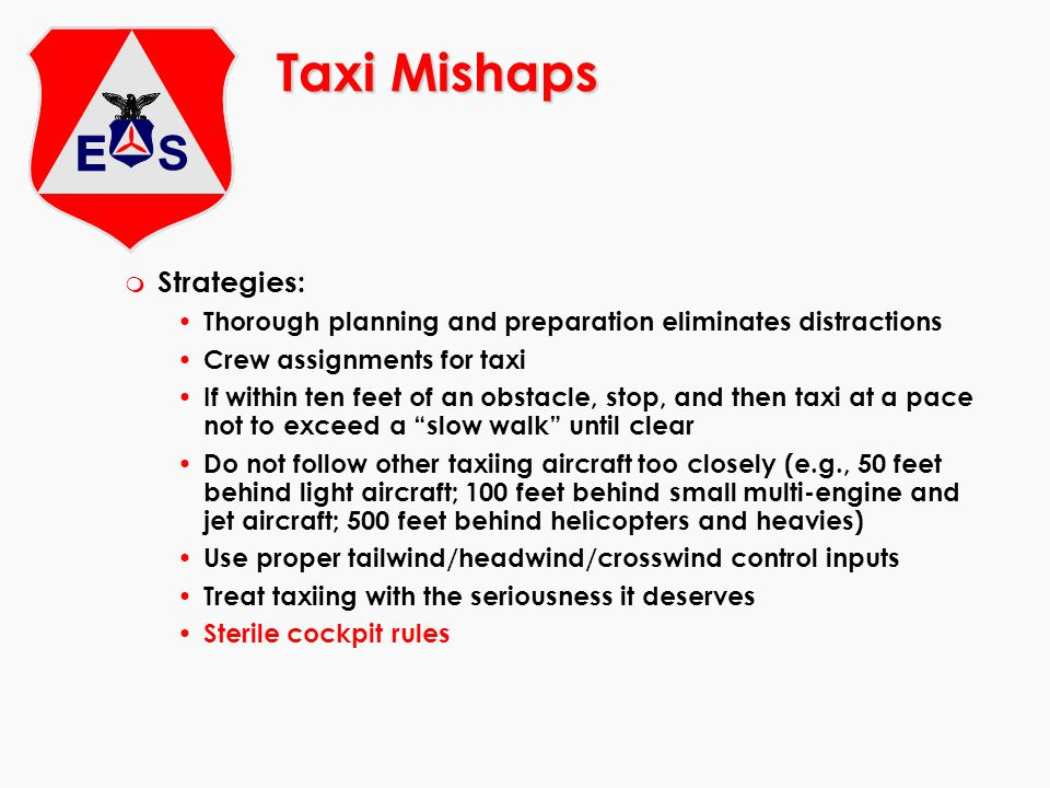 Taxi Mishaps Strategies: