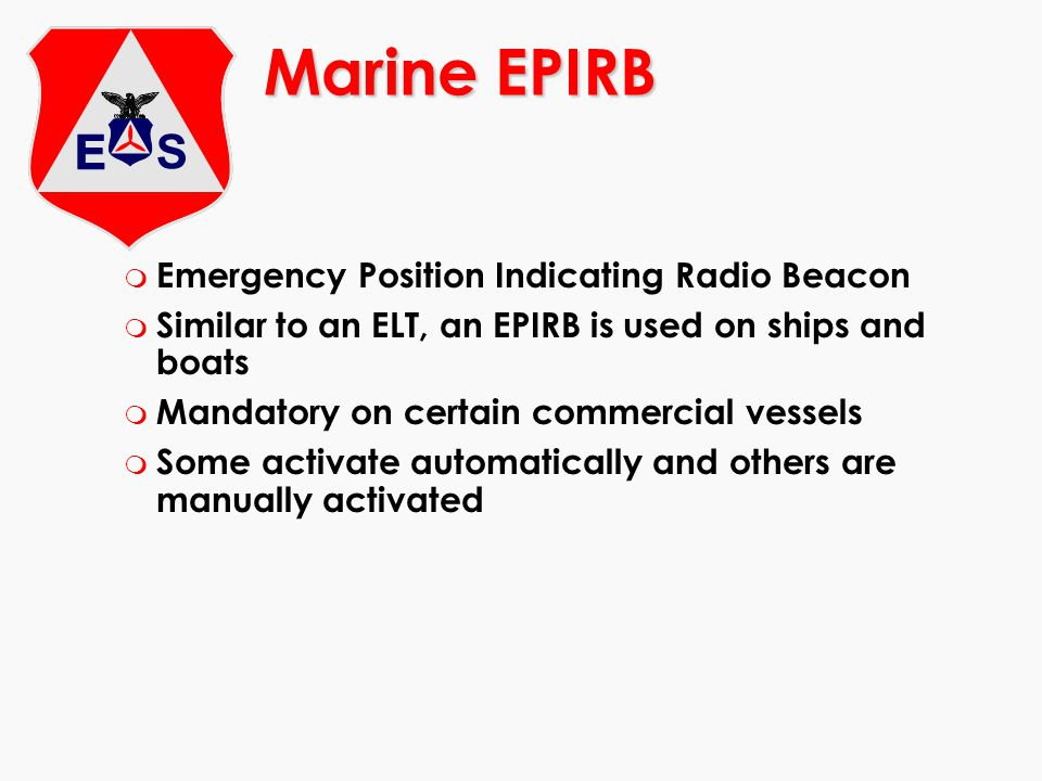 Marine EPIRB Emergency Position Indicating Radio Beacon