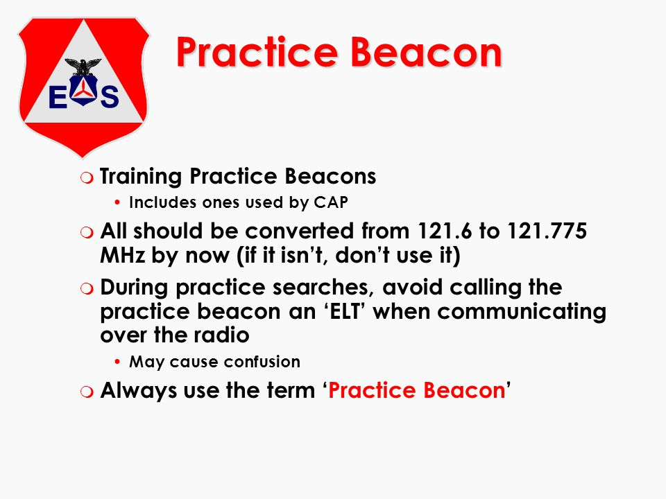 Practice Beacon Training Practice Beacons