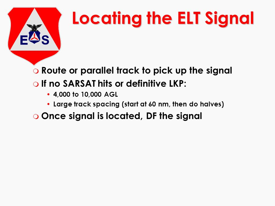Locating the ELT Signal