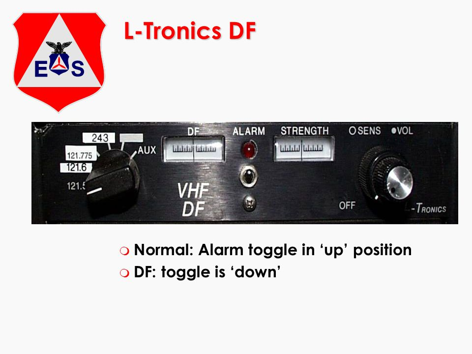 L-Tronics DF Normal: Alarm toggle in 'up' position