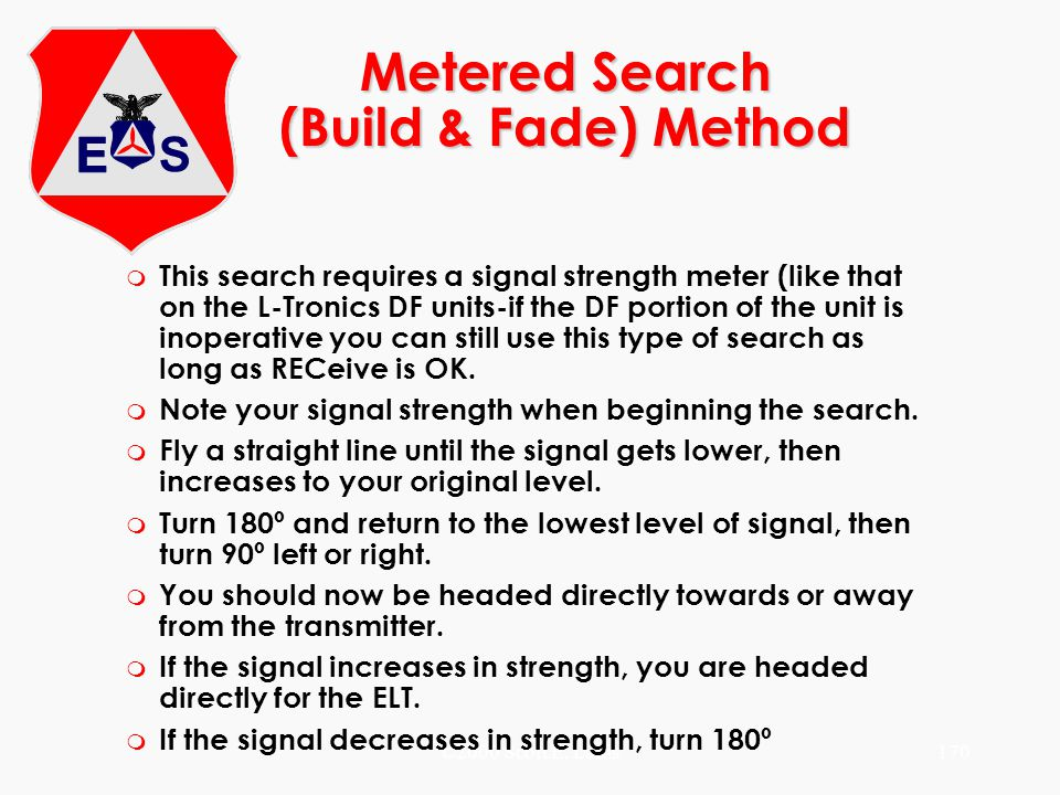 Metered Search (Build & Fade) Method
