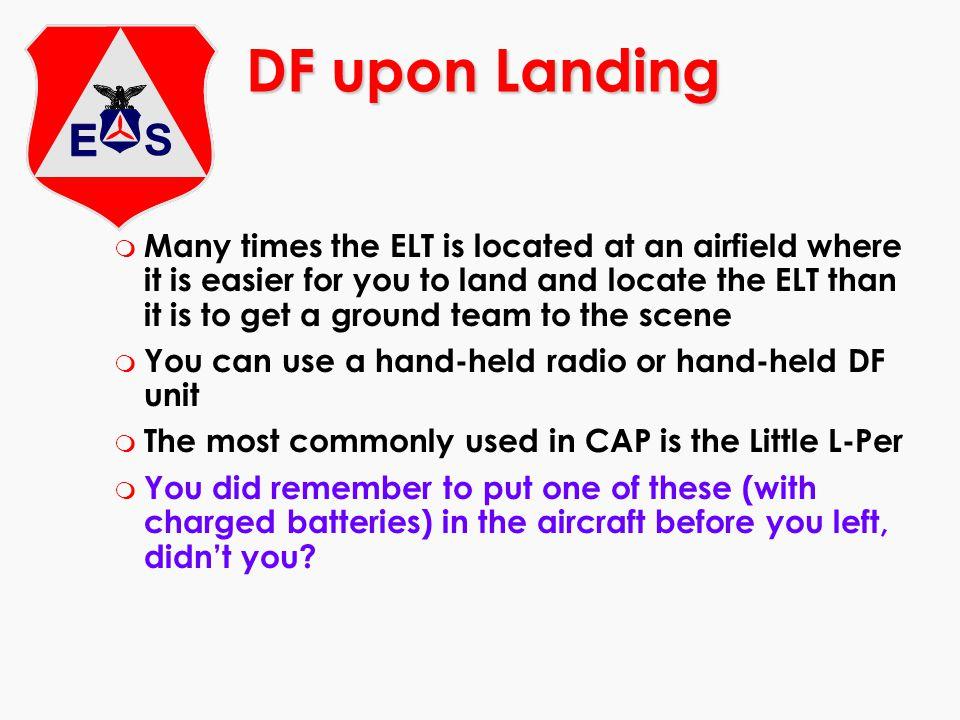 DF upon Landing