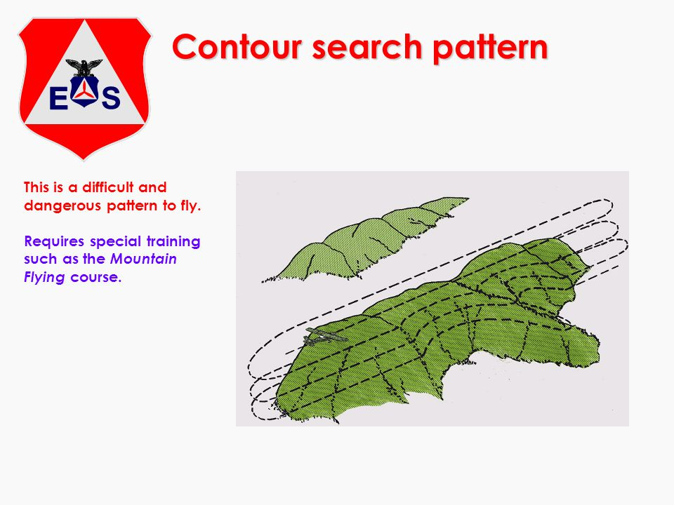 Contour search pattern