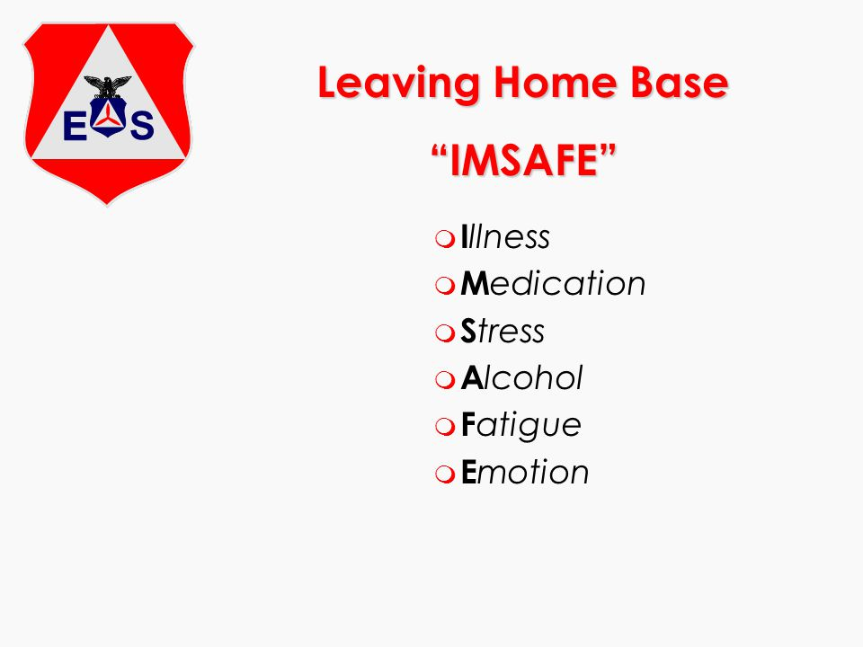 Leaving Home Base IMSAFE