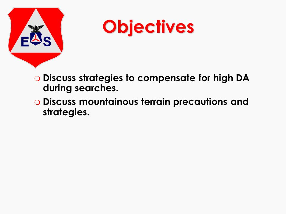 Objectives Discuss strategies to compensate for high DA during searches.
