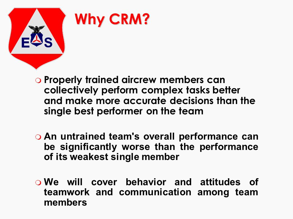 Why CRM