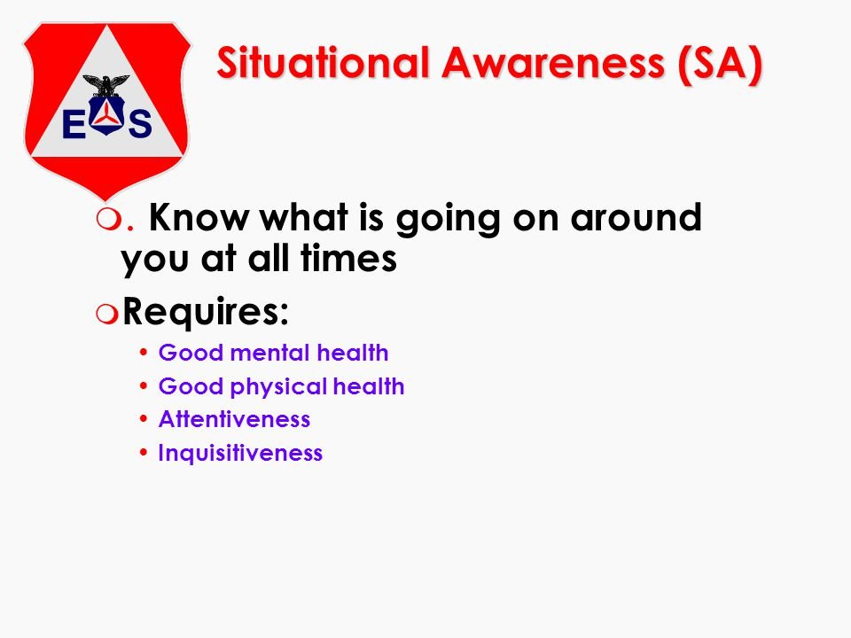 Situational Awareness (SA)