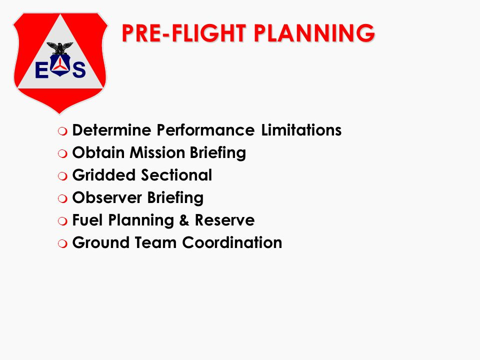 PRE-FLIGHT PLANNING Determine Performance Limitations