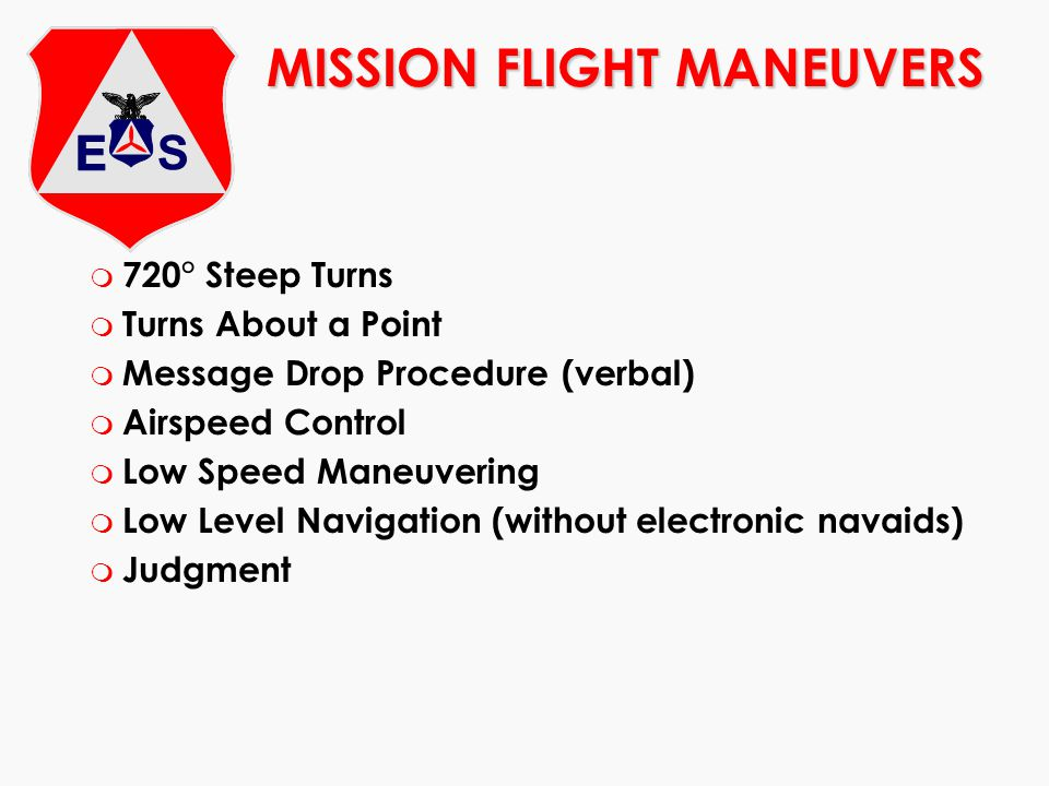 MISSION FLIGHT MANEUVERS