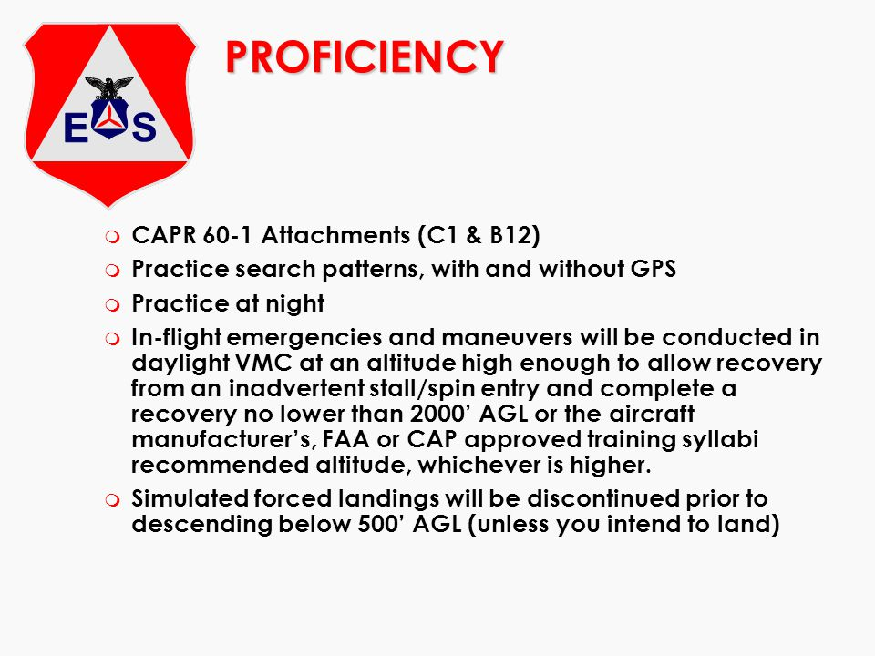 PROFICIENCY CAPR 60-1 Attachments (C1 & B12)