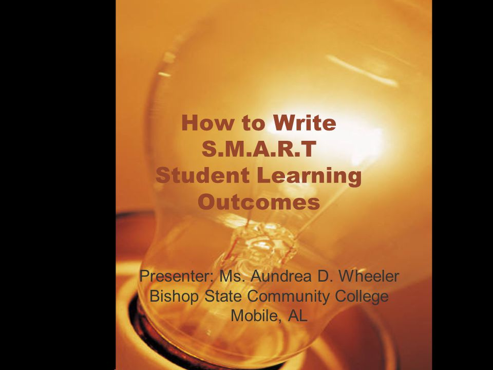 how to write smart student learning outcomes