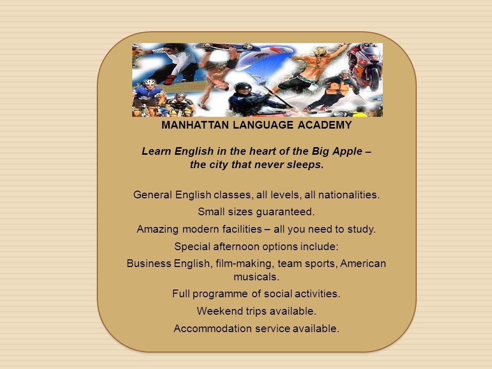 MANHATTAN LANGUAGE ACADEMY