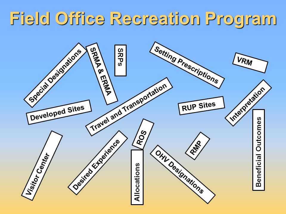 Field Office Recreation Program