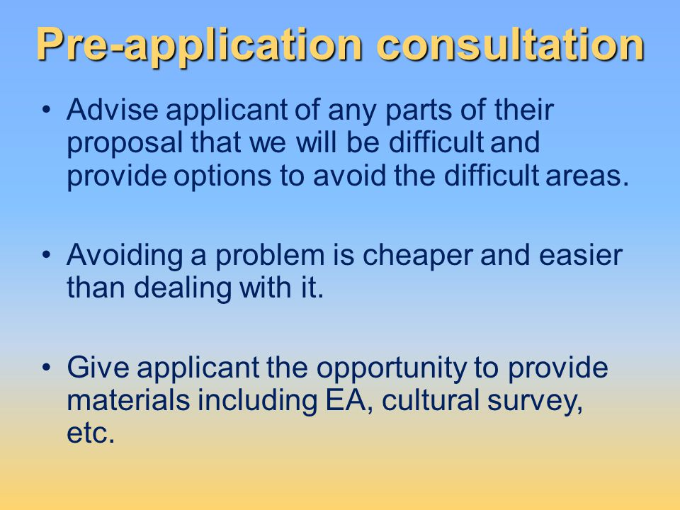 Pre-application consultation