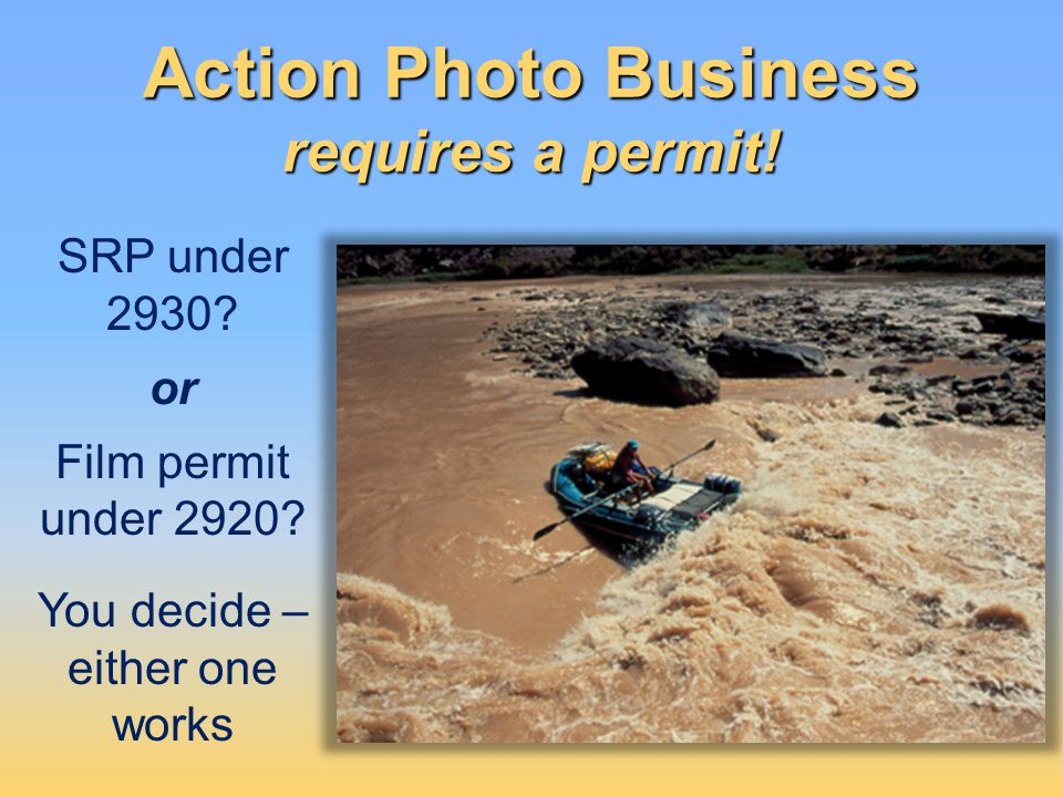 Action Photo Business requires a permit!