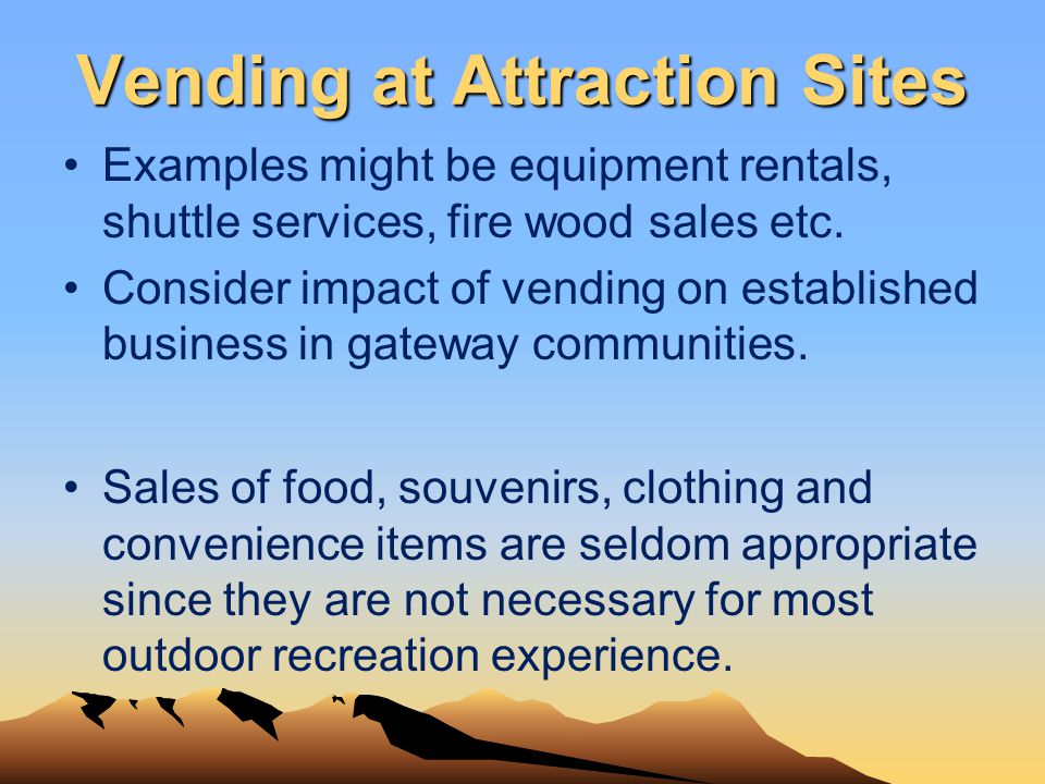Vending at Attraction Sites