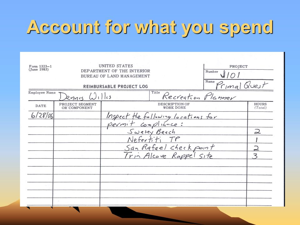 Account for what you spend