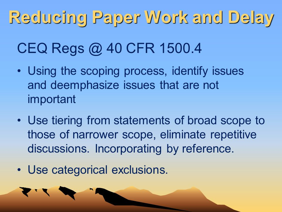 Reducing Paper Work and Delay