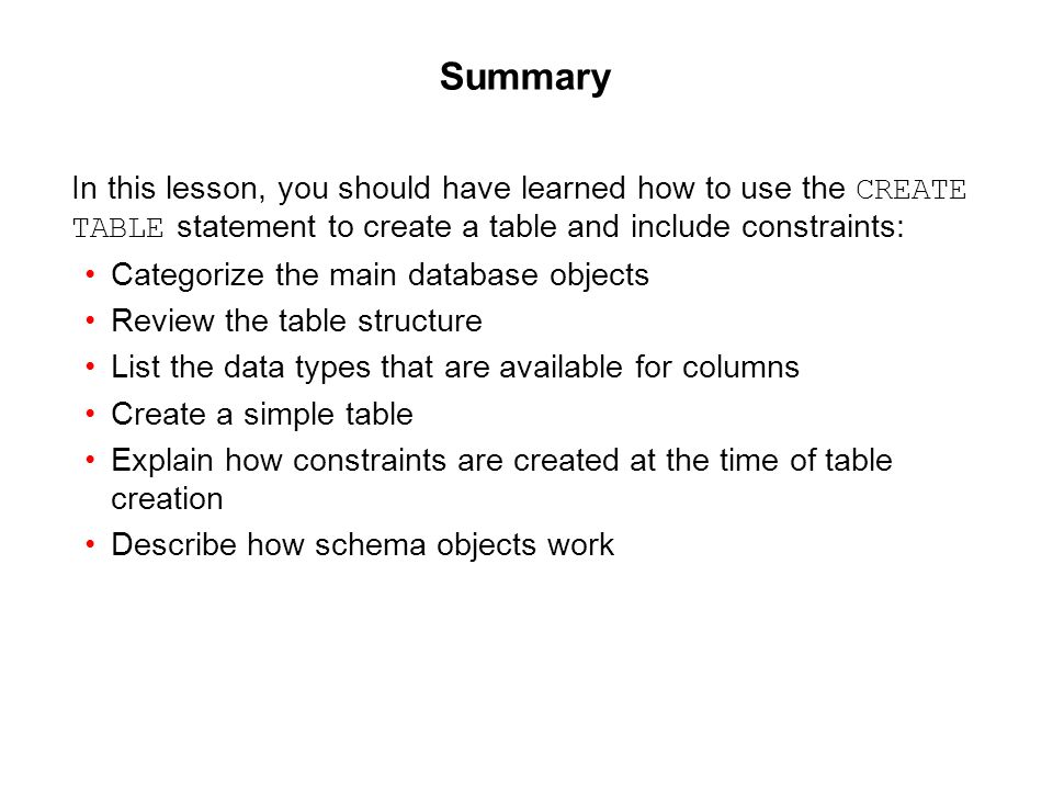 Oracle Database 11g: SQL Fundamentals I 10 - 45