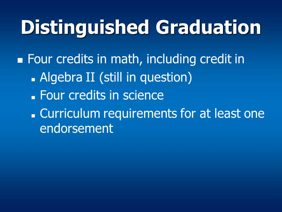 Distinguished Graduation