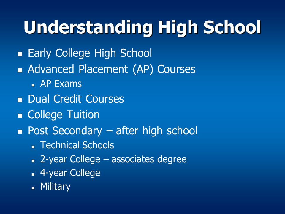 Understanding High School