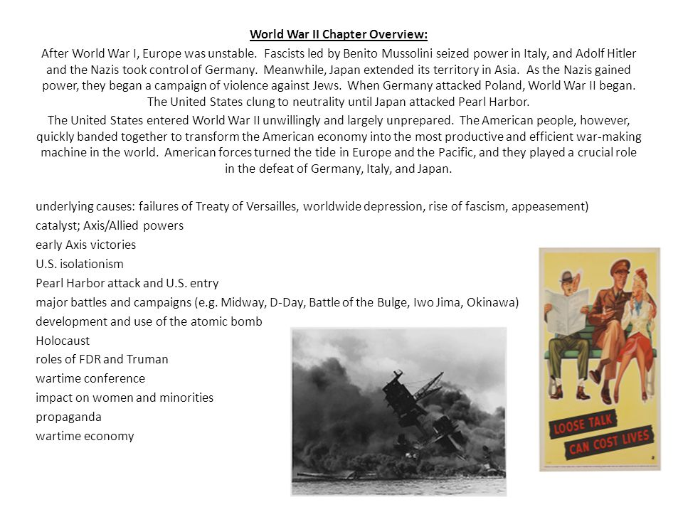 World War II Chapter Overview: