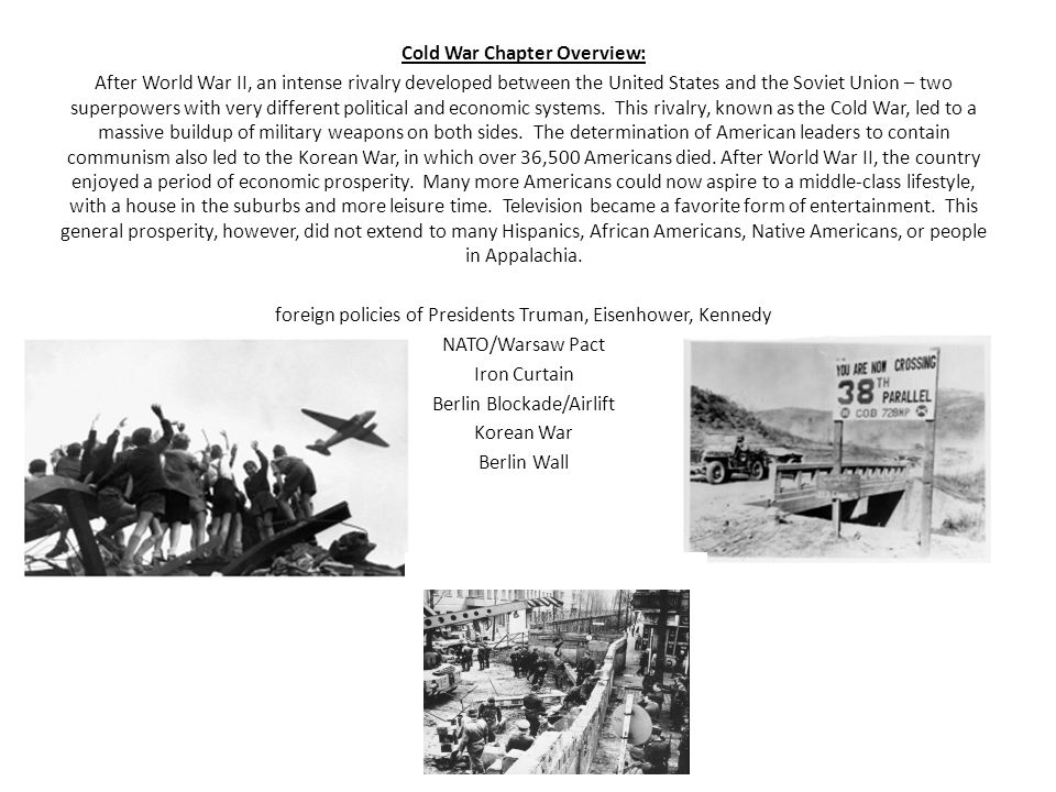 Cold War Chapter Overview: