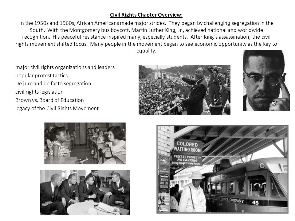 Civil Rights Chapter Overview: