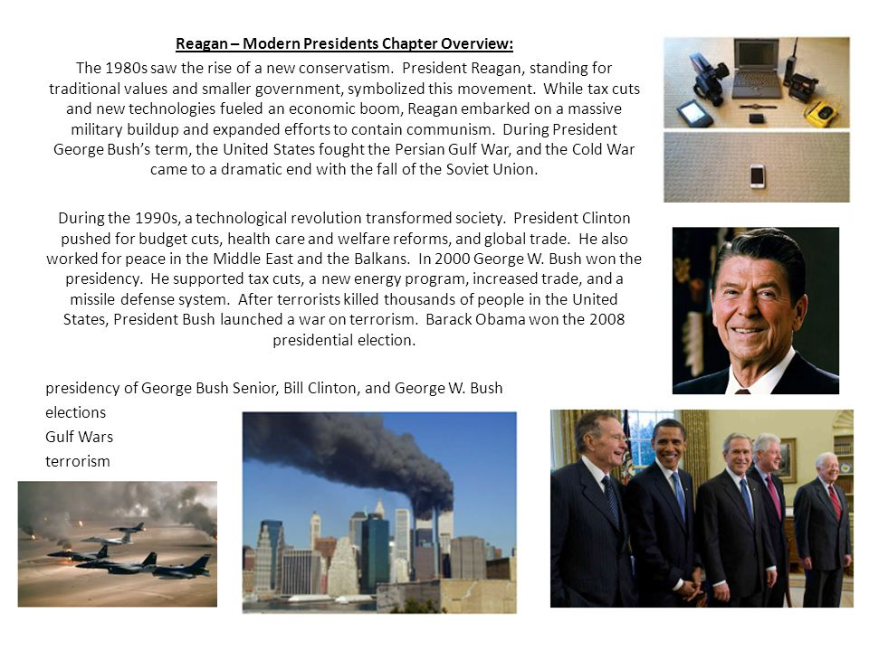 Reagan – Modern Presidents Chapter Overview: