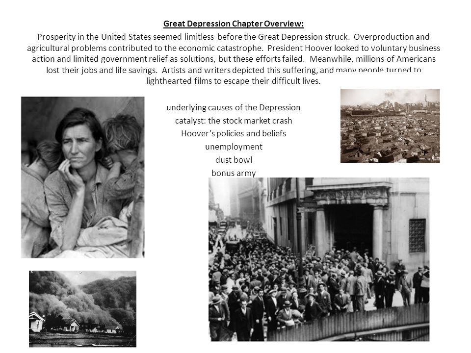 Great Depression Chapter Overview:
