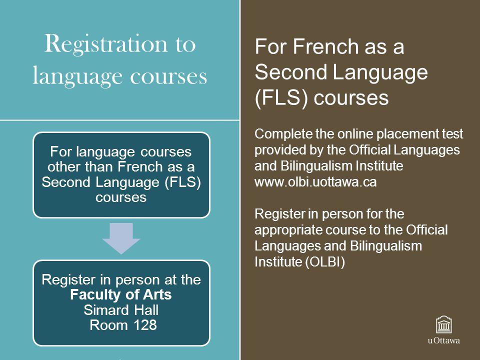 Registration to language courses