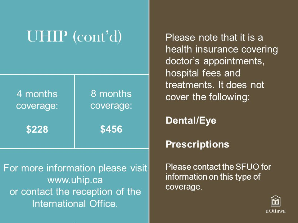 Please note that it is a health insurance covering doctor's appointments, hospital fees and treatments. It does not cover the following: