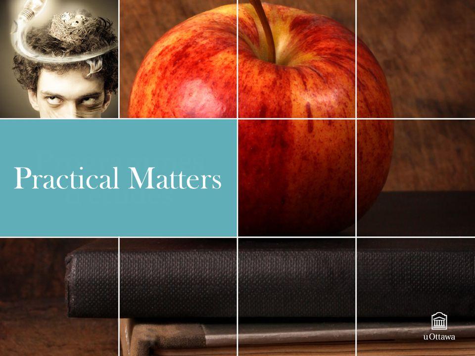 Practical Matters